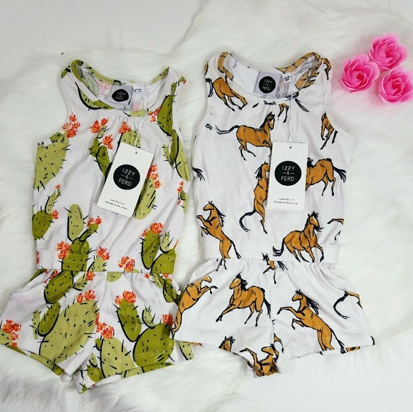 Izzy & Ferd Other - Izzy & Ferd Girls 12-18 Month Summer Rompers